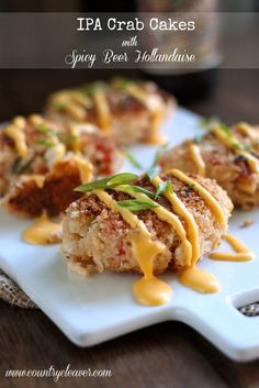 Country Cleaver IPA Crab Cakes with Spicy Beer Hollandaise