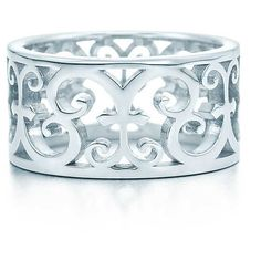 Tiffany Enchant® Ring (1,550 CNY) ❤ liked on Polyvore featuring jewelry, rings, joias, tiffany, tiffany co jewellery, tiffany co rings, fancy jewellery, wide-band rings and sterling silver jewelry
