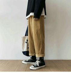 Winter Corduroy Pants Men's Fashion Retro Solid Color Casual Trousers Man Streetwear Wild Hip Hop Loose Straight Pants S Casual Pants from Men's Clothing on AliExpress Mode Outfits, Retro Outfits, Casual Outfits, Fashion Outfits, Casual Pants, Korean Fashion, Mens Fashion, Hip Hop, Baggy Clothes