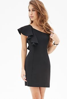 Ruffled One-Shoulder Dress | Forever21 - 2000118265