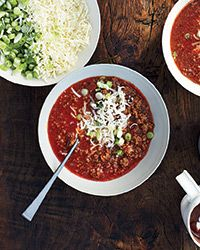 Jeni Britton Bauer adds richness to this wonderful chili with a surprise ingredient: dark chocolate ice cream. She loves serving the chili over spaghetti because it has a great sauce-like consistency.  Slideshow: More Chili Recipes