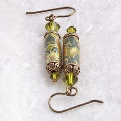 Paper bead Earrings.