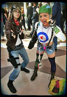 Jet Girl and Tank Girl by ~ToxicRainbowsx on deviantART