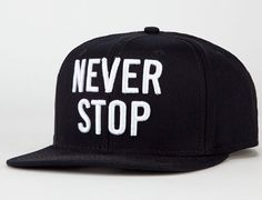 "US VERSUS THEM ""Never Stop"" Snapback Cap"