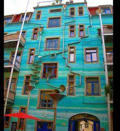 Dresdens musical rain wall