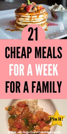21 Cheap Meals for a Week for a Family - Savings 4 Savvy Mums Budget Family Meals, Family Meal Planning, Healthy Family Meals, Healthy Recipes For Weight Loss, Frugal Meals, Easy Healthy Recipes, Easy Dinner Recipes, Healthy Snacks, Frugal Recipes