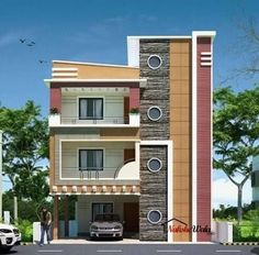 Charming Front Elevation Designs For Duplex Houses In India   Google Search