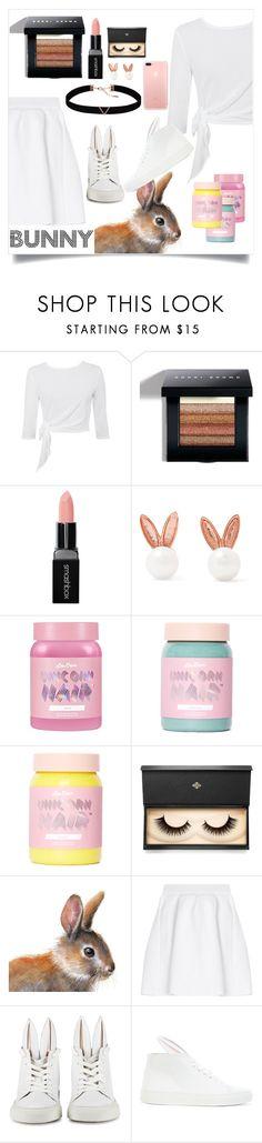 """Bunny"" by livvydubs ❤ liked on Polyvore featuring Bobbi Brown Cosmetics, Smashbox, Aamaya by Priyanka, Lime Crime, Lash Star Beauty, malo, Minna Parikka and Astrid & Miyu"