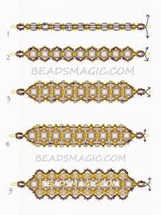 beaded bracelet patterns Free beaded pattern for bracelet Dark Honey Beaded Bracelets Tutorial, Necklace Tutorial, Beaded Bracelet Patterns, Seed Bead Bracelets, Seed Bead Jewelry, Bead Jewellery, Seed Beads, Jewelry Bracelets, Embroidery Bracelets