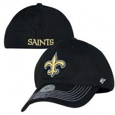 New Orleans Saints NFL Game Time Closer Hat (Black) New Orleans Saints Hats 8960b0382