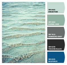 Sherwin-Williams Beach colours...I can picture myself walking into this. Living room. Dining room. Distressed wood.