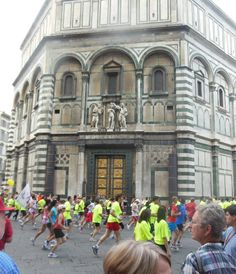 A marathon in Florence, Italy