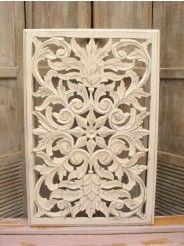 Houtsnijwerk paneel Cardenas white wash 85 cm