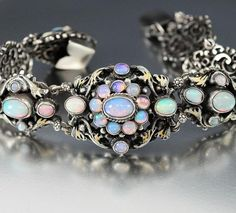 Antique Victorian Austro Hungarian Opal Bracelet - Boylerpf - 2