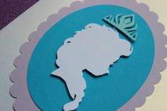 Queen Elsa Silhouette -Frozen Flat card Invitations by handmadewithlovnessa on Etsy