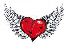Heart Wing Logo clip art - vector clip art online, royalty ...