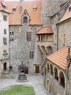 Bouzov castle courtyard (North Moravia), Czechia