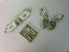 How to make money butterflies for graduation leis for Amy and Sandy's Grad