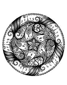 MANDALA Adult Coloring Book Pages, Cartoon Coloring Pages, Mandala Coloring Pages, Coloring Books, Colouring, Doodle Pages, Doodle Art, Doodles Zentangles, Zentangle Patterns