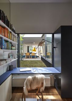 Home office of Mills House by Austin Maynard Architect (via Lunchbox Architect) Home Office Design, House Design, Contemporary Home Offices, Contemporary Bathrooms, Interior Architecture, Interior Design, Best Interior, Box Building, Melbourne House