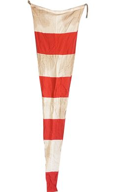 Vintage Signal Flag, Red and White