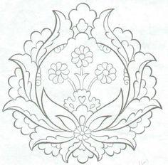 flowers in frame embrodery pattern.  Nakış Örnekleri1