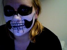 My skeleton roller derby make up for the Snow Brawl Dec 2011, thanks Merry Makers and Decorators for the face painting!