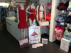 Hautnah storefront in Nordhorn, Germany, showcasing swimwear made with LYCRA® fiber. Take off with LYCRA® fiber!