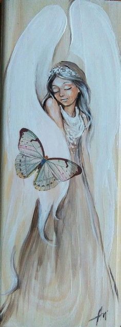 Illustration Art Dessin, Illustrations, Angel Artwork, Angel Drawing, I Believe In Angels, Angel Pictures, Angels In Heaven, Guardian Angels, Painting & Drawing