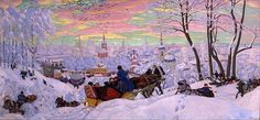 Shrovetide by the Russian artist Boris Kustodiev (1878–1927). This 1916 painting depicts Maslenitsa, or the last week of Shrovetide, as remembered by the artist.