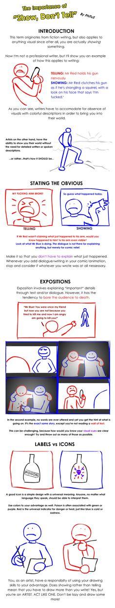 Show, Don't Tell by PhiTuS.deviantart.com on @DeviantArt