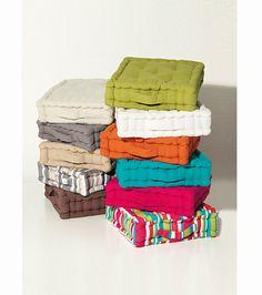 Textil hogar pouf redondo asientos de suelo cojines de - Cojin cuadrado suelo ...