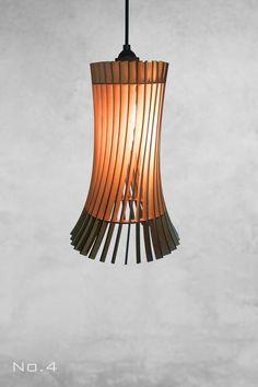 Lamp / Pendant Light / Modern Lamp / Light Fixture / Wood Lamp Shade - All For House İdeas Wood Pendant Light, Modern Pendant Light, Pendant Lamp, Ceiling Rose, Ceiling Lights, White Lamp Shade, Wood Lamps, Lamp Design, Modern Lighting