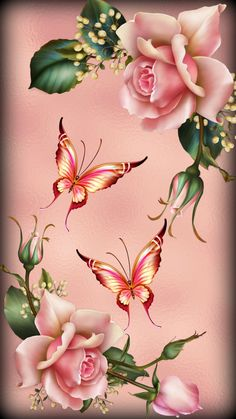 Pink Roses – Graffiti World Floral Wallpaper Iphone, Flower Background Wallpaper, Sunflower Wallpaper, Butterfly Wallpaper, Rose Wallpaper, Flower Backgrounds, Cellphone Wallpaper, Colorful Wallpaper, Butterfly Art