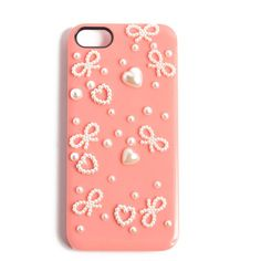 Bow and Hearts Case - 202AVE ($12) ❤ liked on Polyvore