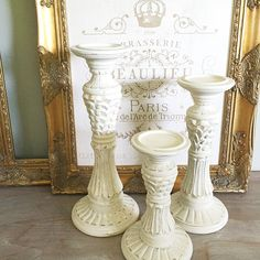 Wooden Candle Holders Wedding Table Centerpiece by FarmHouseFare