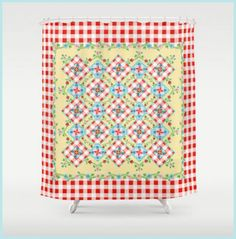 Hey, I found this really awesome Etsy listing at https://www.etsy.com/listing/218243134/cottage-chic-gingham-shower-curtain