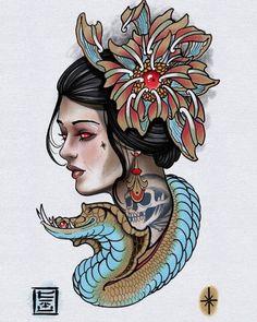 Tattoo Smart, Canvas Wall Art Quotes, Cthulhu Tattoo, Japanese Tattoo Women, Neo Tattoo, Traditional Tattoo Design, Ipad Art, Tattoo Blog, Animal Tattoos