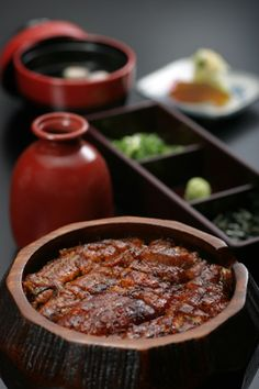 Hitsumabushi, barbecued eel on rice with sweet soy sauce. Specialty in Aichi Prefecture.