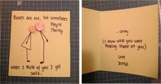 'cute handmade birthday card for boyfriend '. This one is really funny.Definately gonna make one; Birthday Cards For Him, Birthday Cards For Boyfriend, Funny Husband Birthday Cards, 30th Birthday For Him, Funny Birthday, Birthday Ideas, Bf Gifts, Cute Gifts, My Sun And Stars