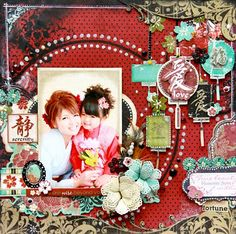 This layout couldn't be more fabulous! Serenity is gorgeous! @Tomoko Takahashi #bobunny