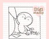 Zwergpinguin Liebe digitalen Stempel für Karten-Herstellung, Papier, Kunsthandwerk, Scrapbooking, Hand Embroidery, Einladungen, Aufkleber, Cookie Dekoration