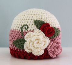 Exceptional Stitches Make a Crochet Hat Ideas. Extraordinary Stitches Make a Crochet Hat Ideas. Crochet Adult Hat, Crochet Cap, Crochet Baby Hats, Crochet Beanie, Love Crochet, Crochet For Kids, Crochet Toys, Knitted Hats, Crochet Flower Hat