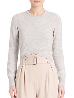 A.L.C. - Ford Cross Front Crop Sweater