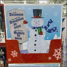 Cater to a multicultural customer base early with a PreSeason Snowman Sale Goes Multilingual. Come one, come all, to enjoy the fun and savings. Jena, First They Came, Hanukkah, Pallet, Snowman, Retail, Holiday Decor, Christmas, Snow