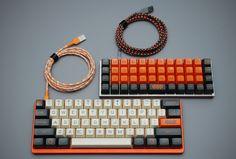 Planck, TEX case, custom cables, Carbon keysets. From techmattr.