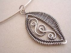 Etsy+の+Woven+Leaf+PendantSterling+Silver+by+julidadesigns