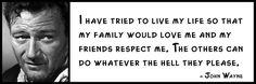 l Quote - JOHN WAYNE -
