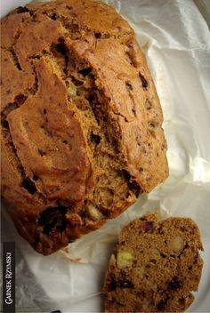 Bezglutenowe korzenne ciasto z bananami i czekoladą  _ Gluten Free