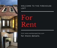 This beautiful New York style loft in downtown St Catharines is available now. For more information and to book a viewing go to www.wamproperties.com today! Before it's gone! Lofts For Rent, St Catharines, New York Style, Property Management, Woods, Real Estate, Beautiful, Home, Ad Home